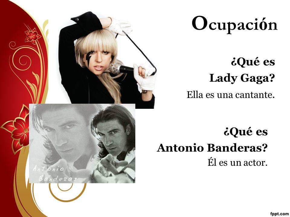 Ocupación ¿Qué es Lady Gaga ¿Qué es Antonio Banderas