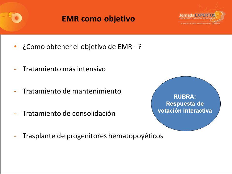 EMR como objetivo ¿Como obtener el objetivo de EMR -