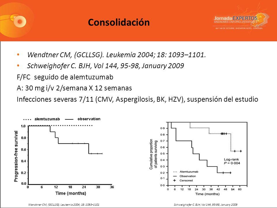 Consolidación Wendtner CM, (GCLLSG). Leukemia 2004; 18: 1093–1101.