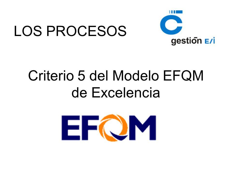Criterio 5 del Modelo EFQM de Excelencia