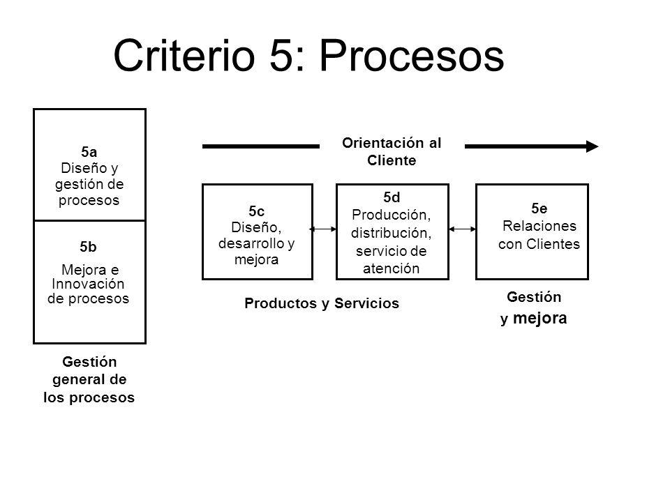 Orientación al Cliente Gestión general de los procesos