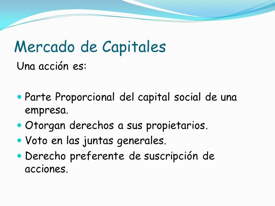Mercado de Capitales Una acción es: