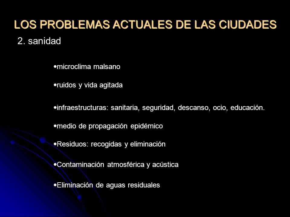 LOS PROBLEMAS ACTUALES DE LAS CIUDADES