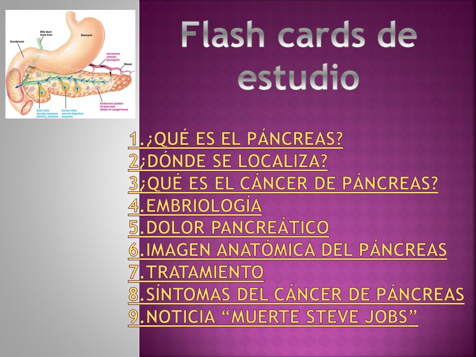 Flash cards de estudio