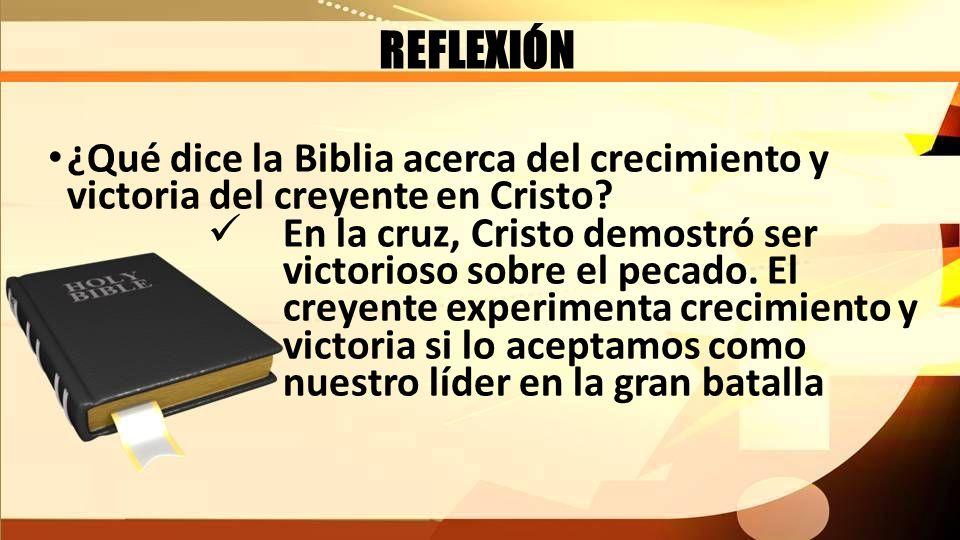 REFLEXIÓN ¿Qué dice la Biblia acerca del crecimiento y victoria del creyente en Cristo