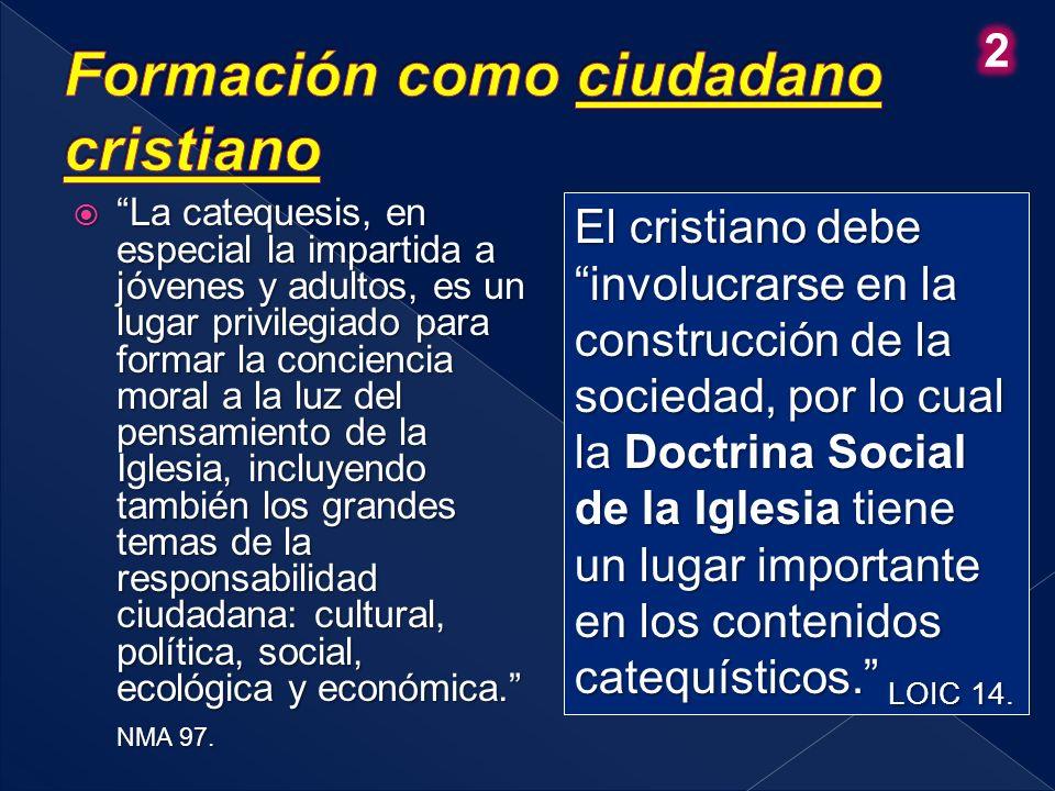 Formación como ciudadano cristiano