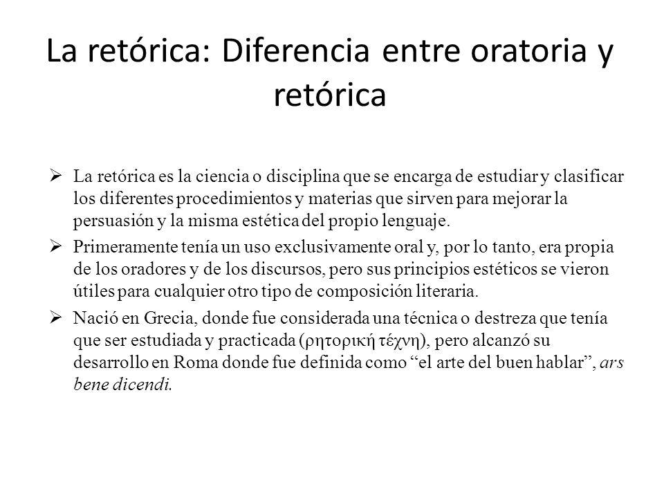 La retórica: Diferencia entre oratoria y retórica