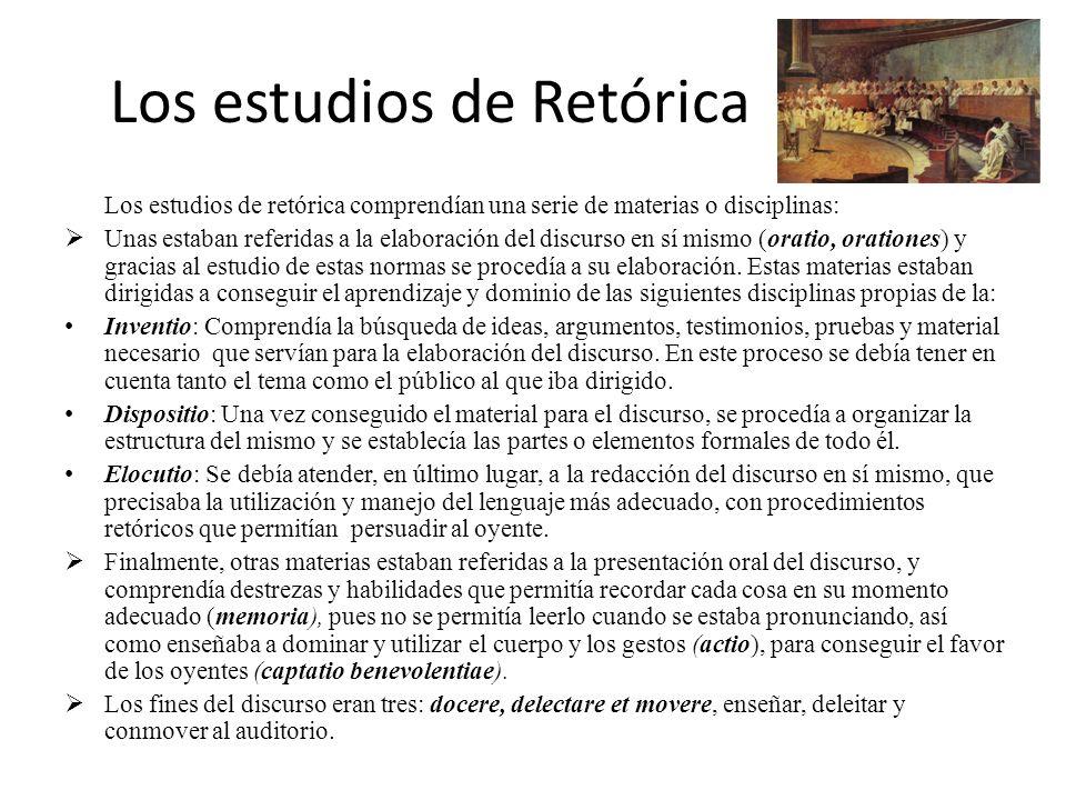 Los estudios de Retórica