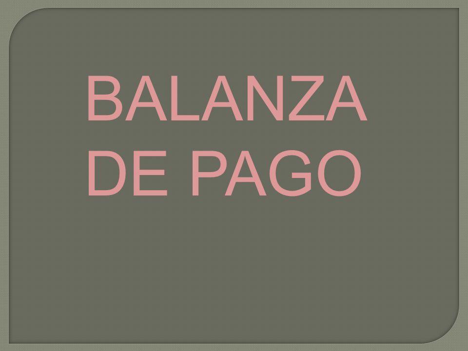 BALANZA DE PAGO