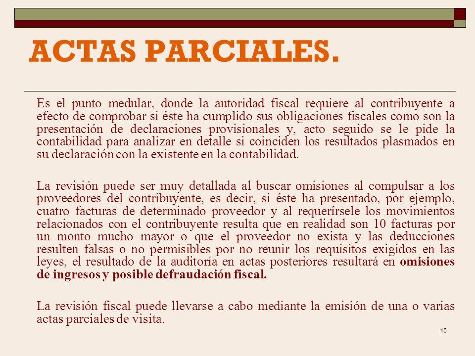 29/03/2017 ACTAS PARCIALES.