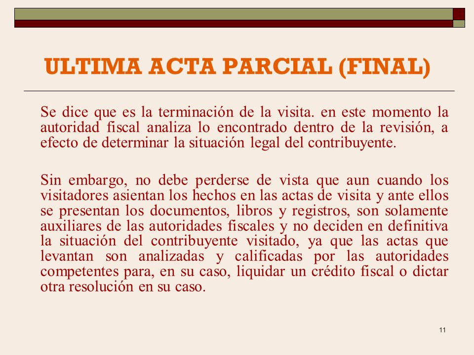 ULTIMA ACTA PARCIAL (FINAL)