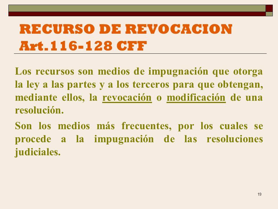 RECURSO DE REVOCACION Art.116-128 CFF