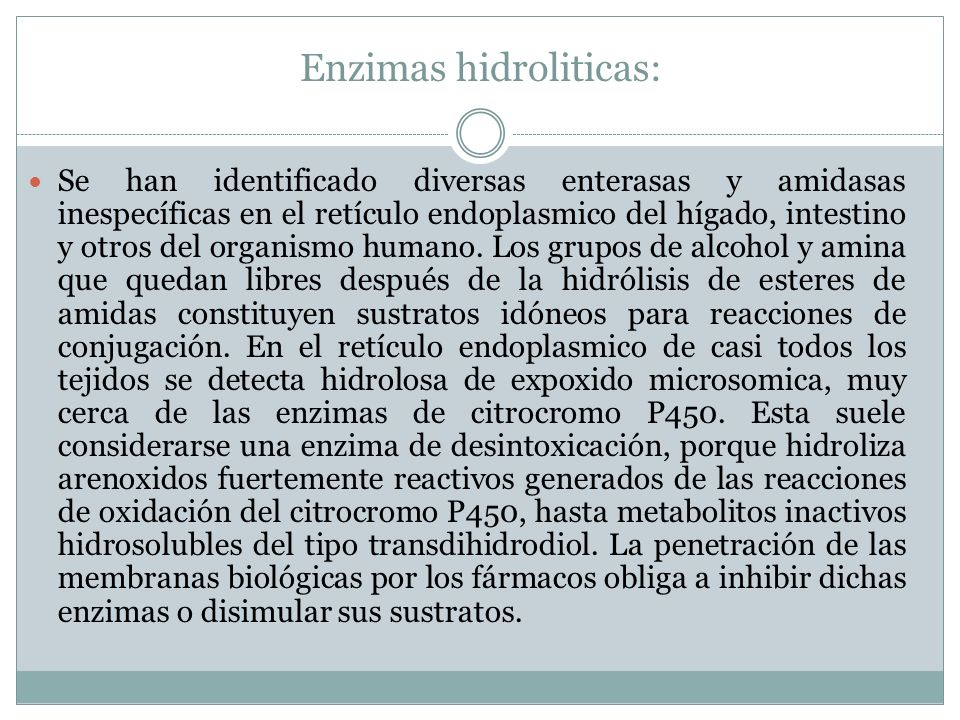 Enzimas hidroliticas: