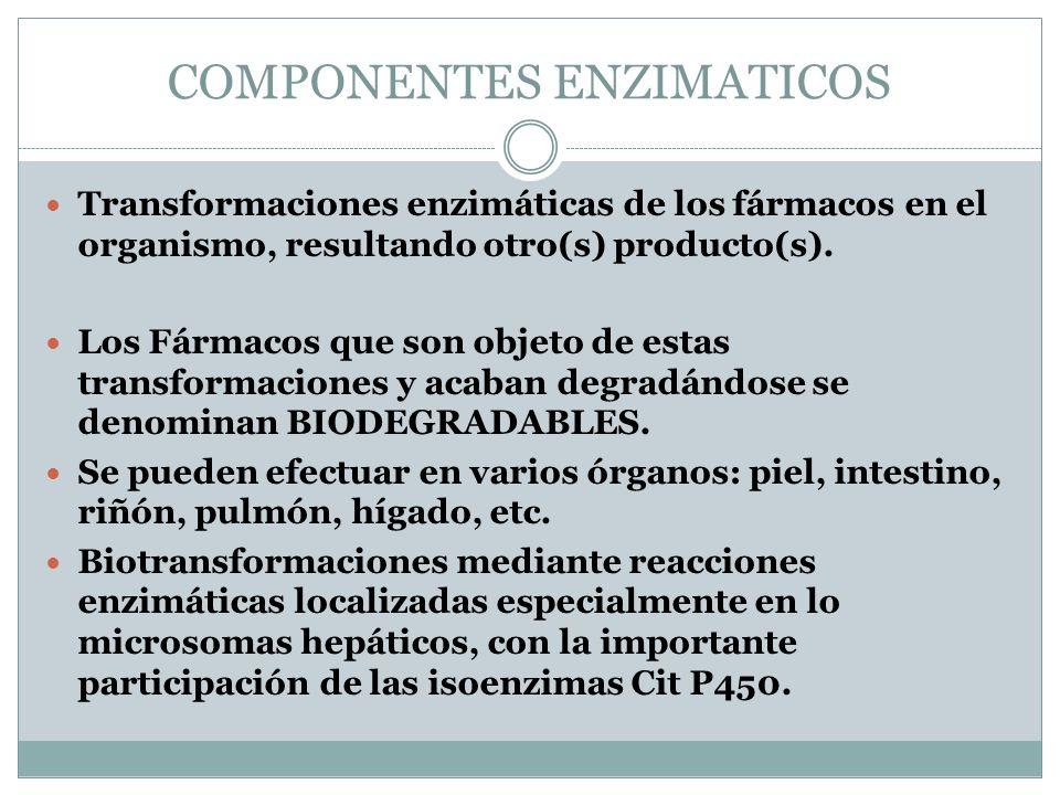 COMPONENTES ENZIMATICOS