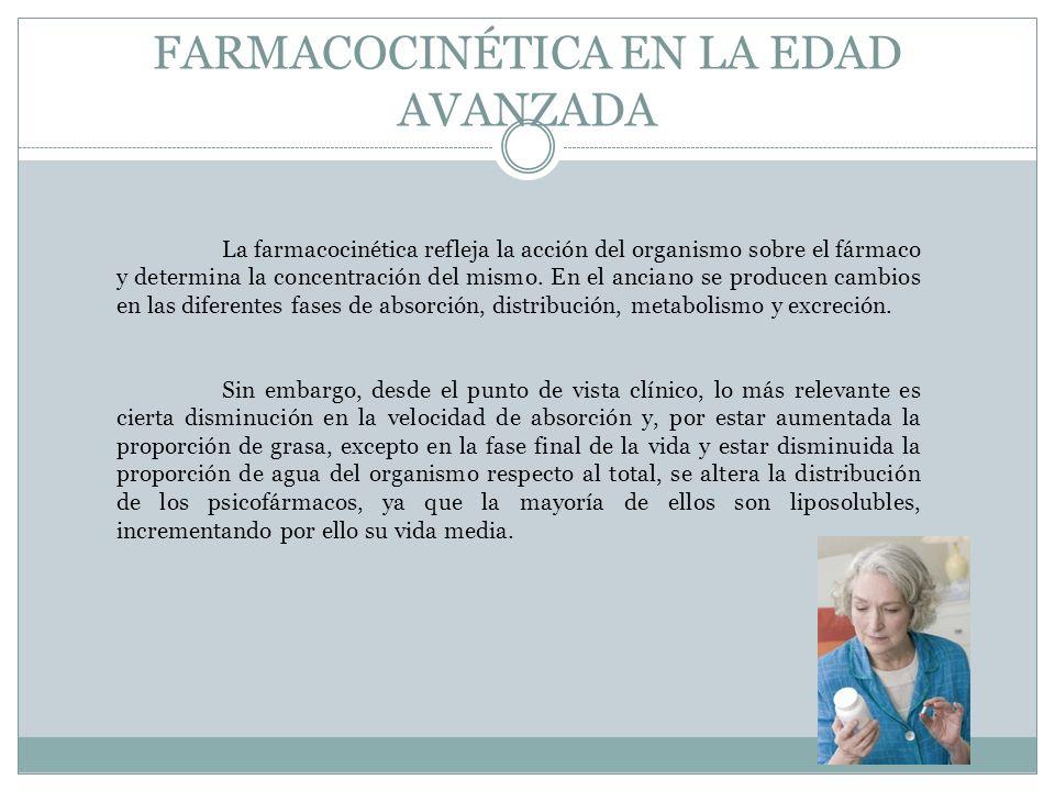 FARMACOCINÉTICA EN LA EDAD AVANZADA