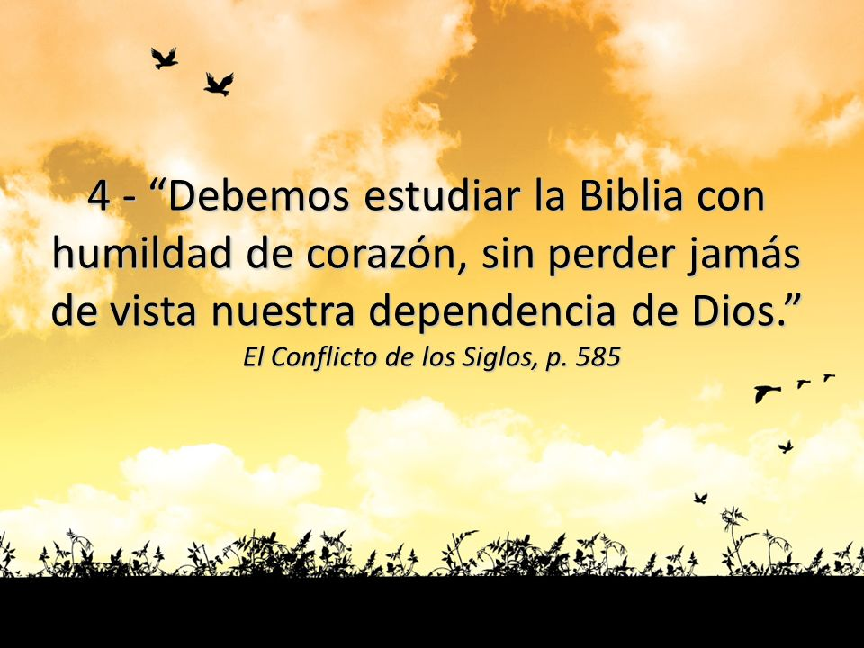 4 - Debemos estudiar la Biblia con