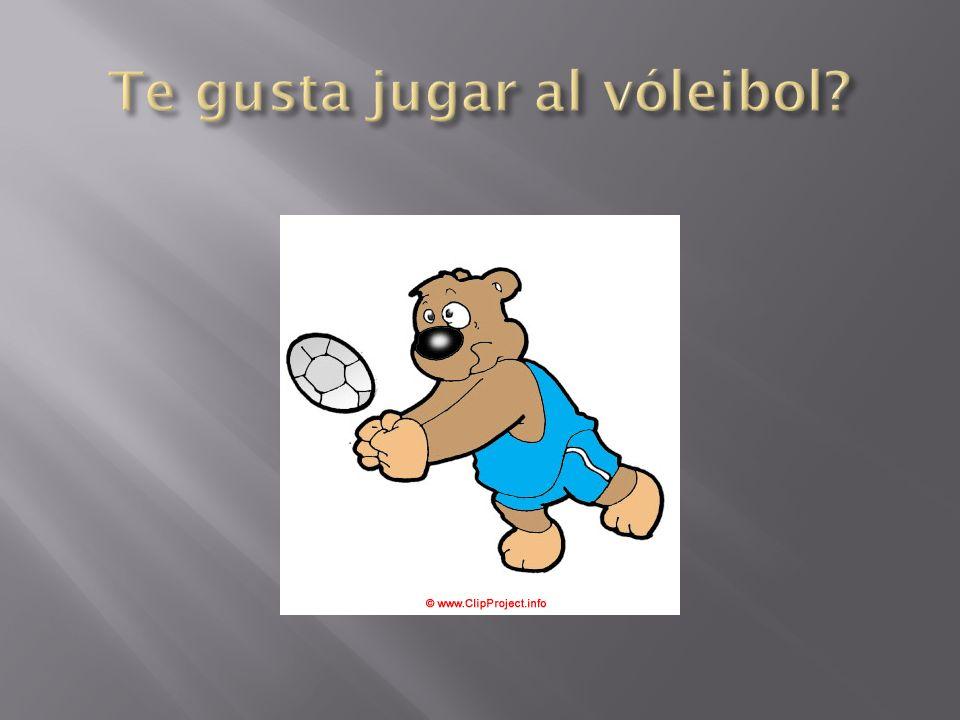 Te gusta jugar al vóleibol