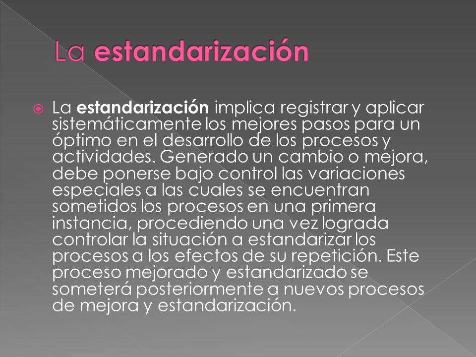 La estandarización