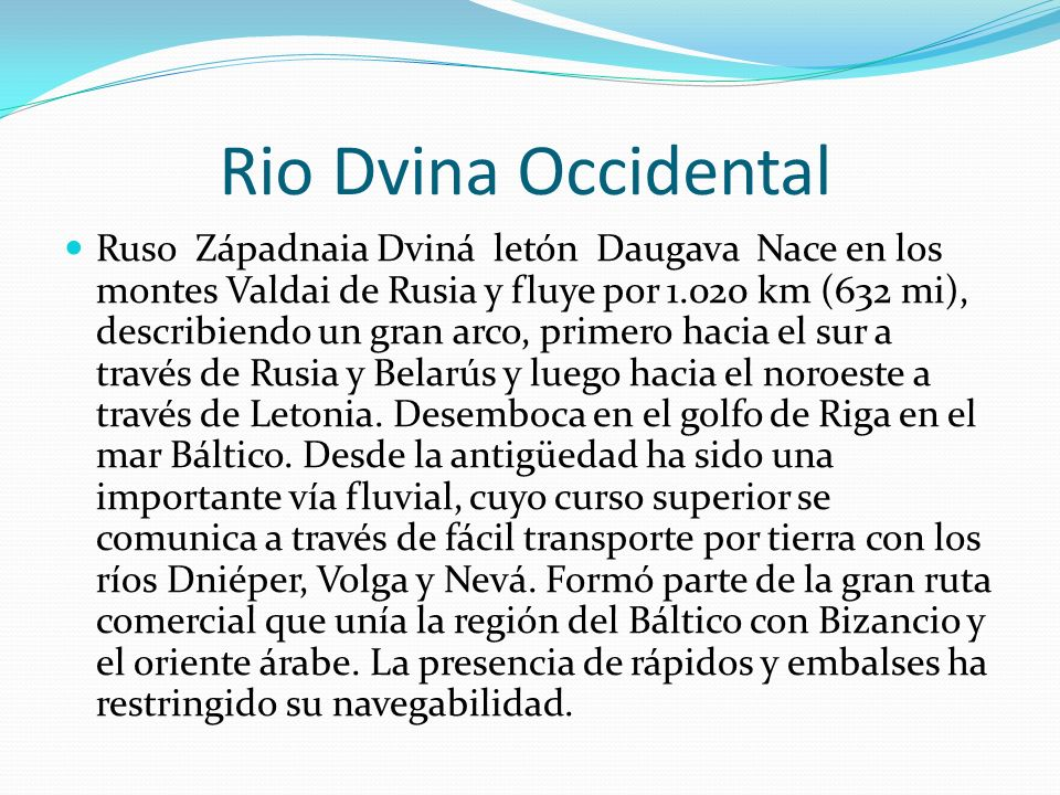 Rio Dvina Occidental