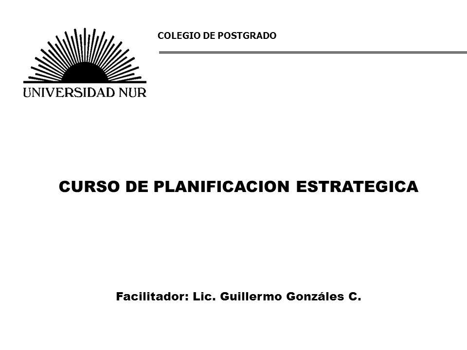 CURSO DE PLANIFICACION ESTRATEGICA
