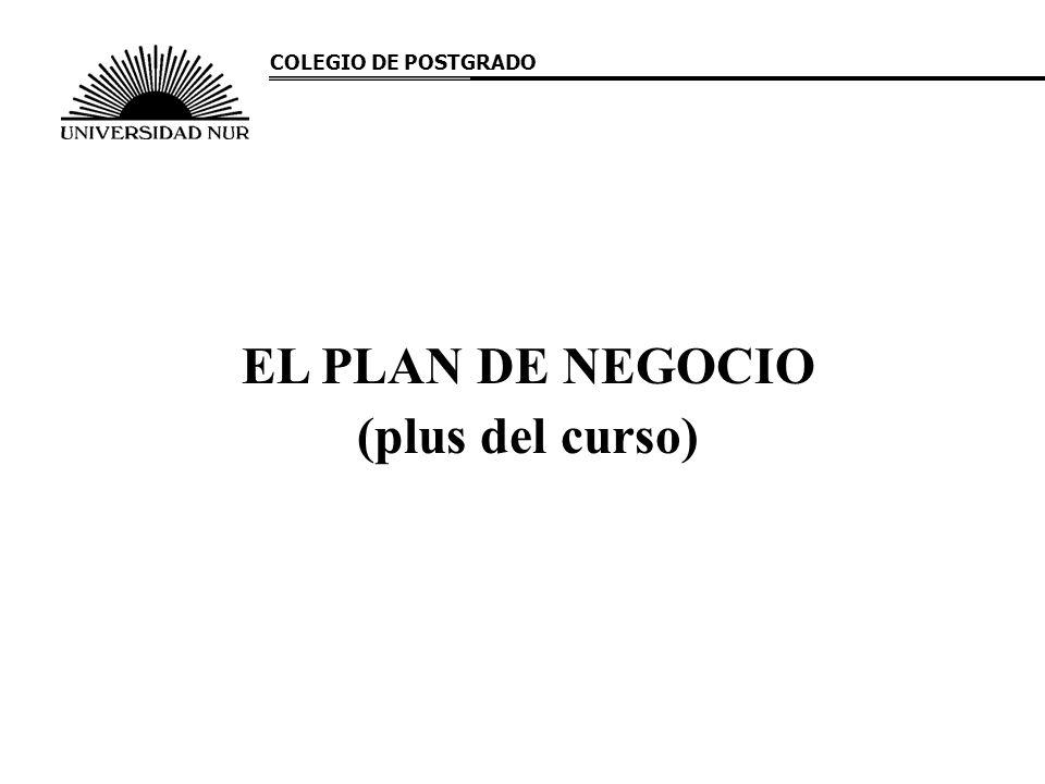 EL PLAN DE NEGOCIO (plus del curso)