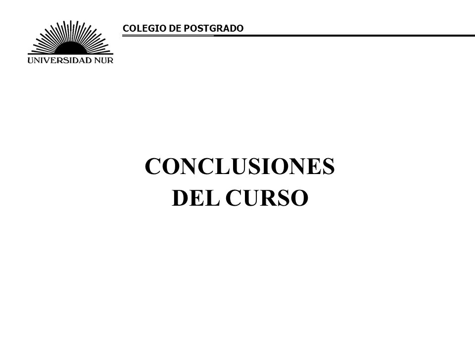 CONCLUSIONES DEL CURSO