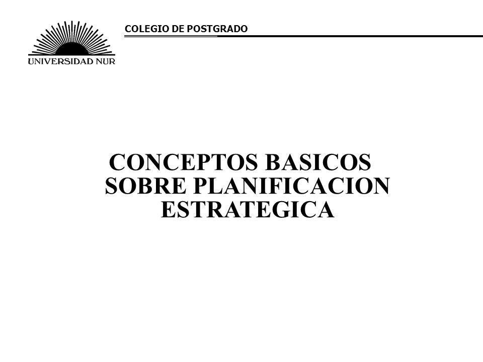 CONCEPTOS BASICOS SOBRE PLANIFICACION ESTRATEGICA