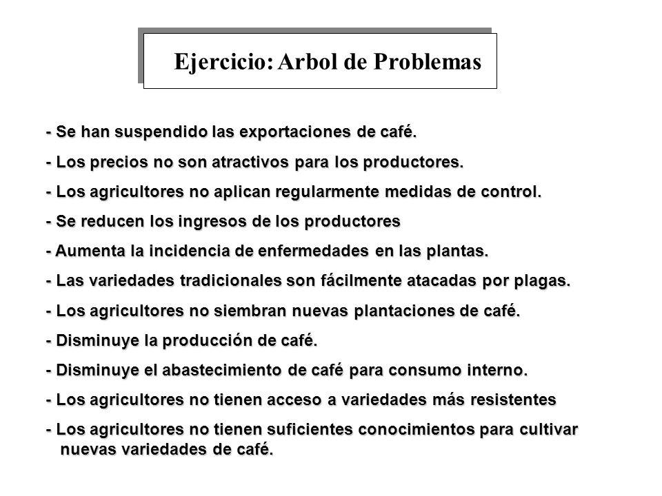 Ejercicio: Arbol de Problemas