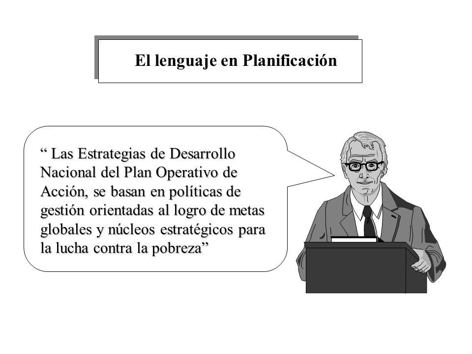 El lenguaje en Planificación