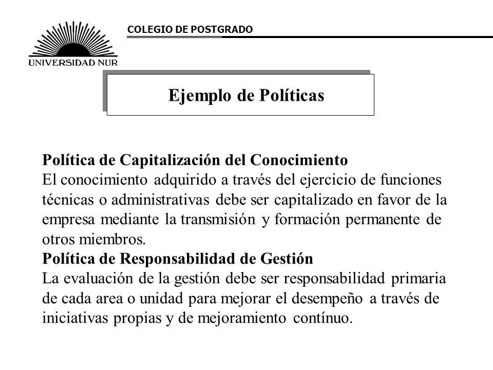 Ejemplo de Políticas Política de Capitalización del Conocimiento