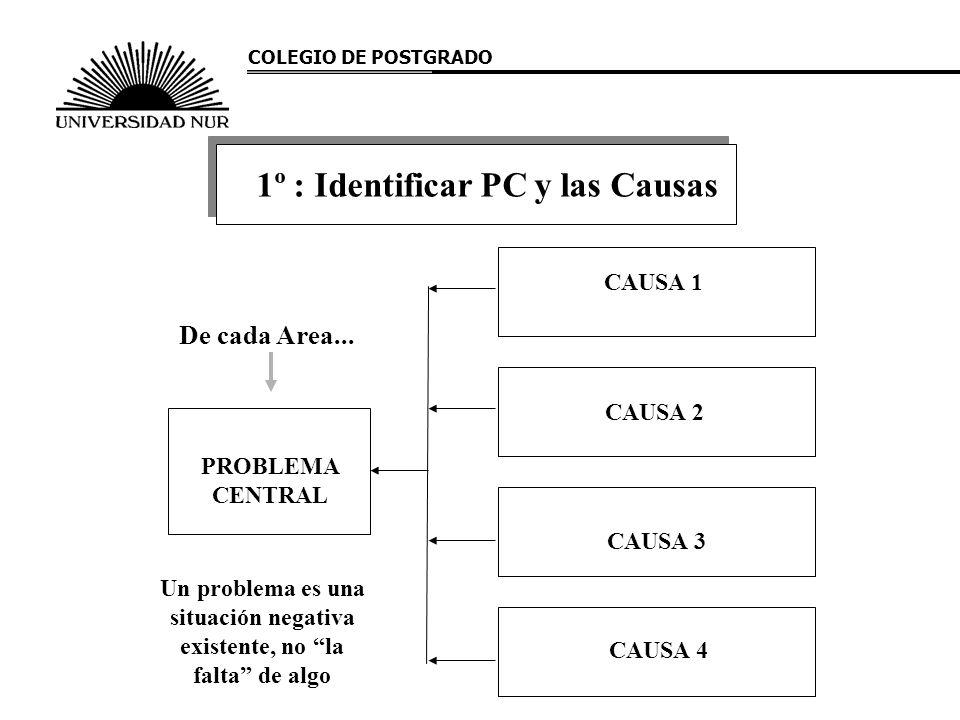 1º : Identificar PC y las Causas