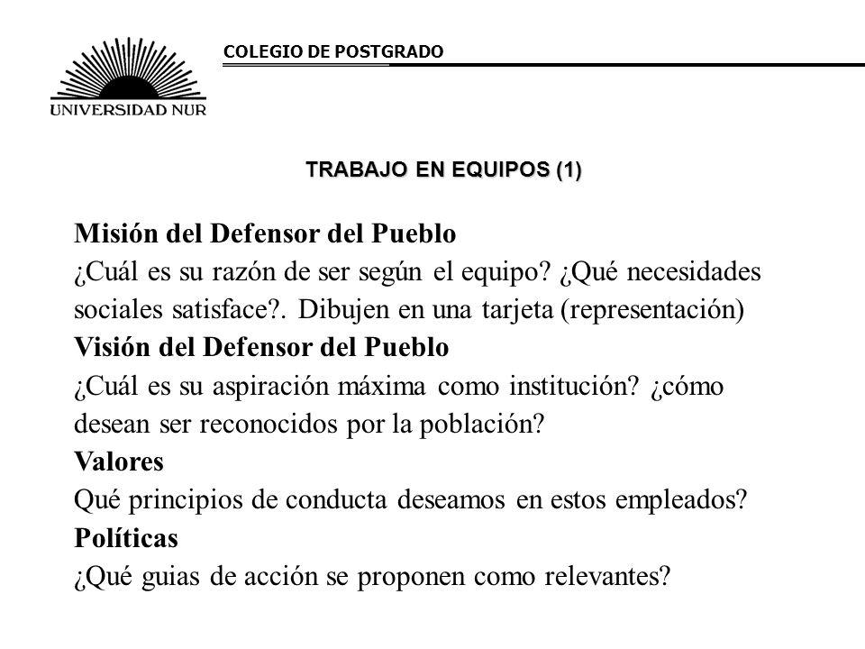 Misión del Defensor del Pueblo