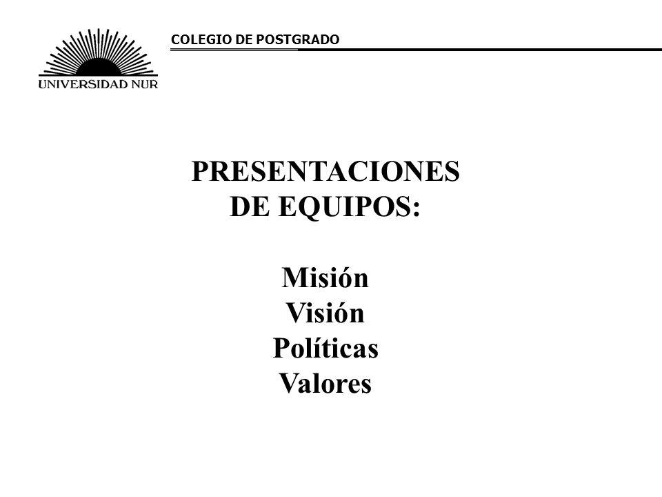 PRESENTACIONES DE EQUIPOS: