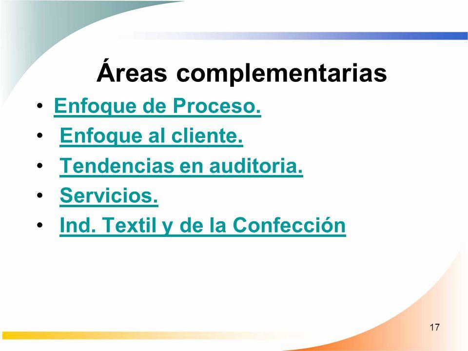 Áreas complementarias