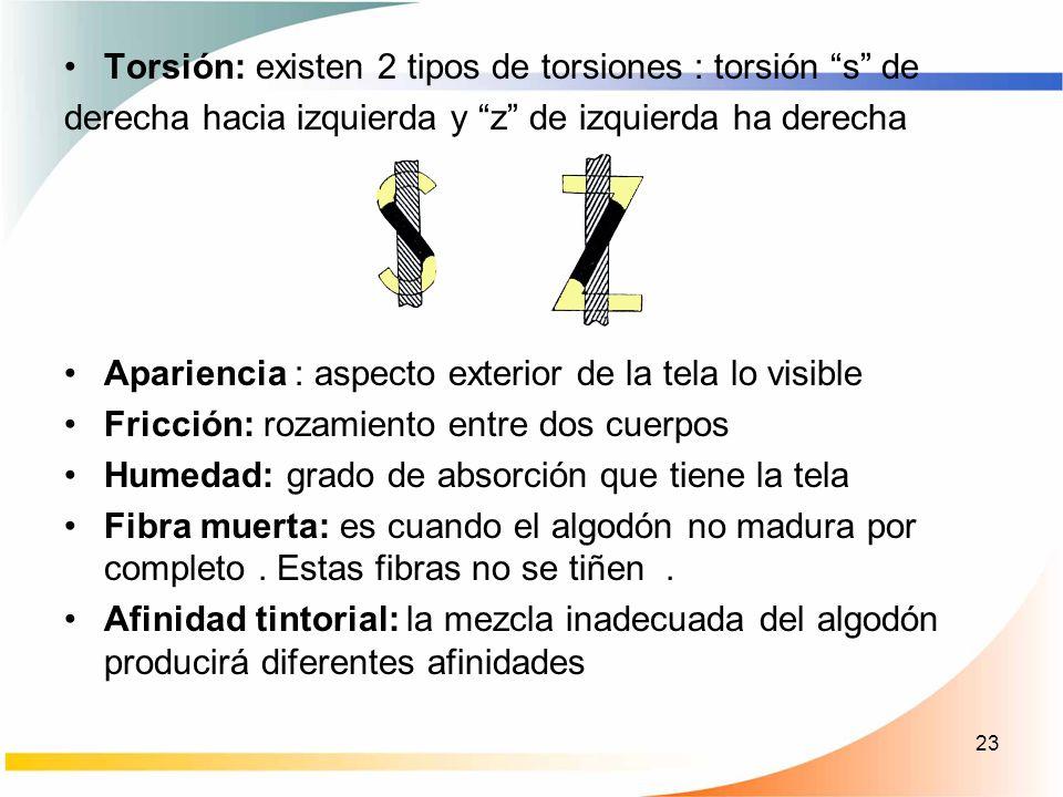 Torsión: existen 2 tipos de torsiones : torsión s de