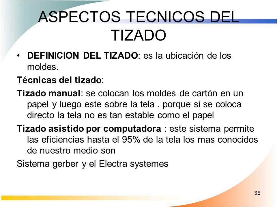 ASPECTOS TECNICOS DEL TIZADO