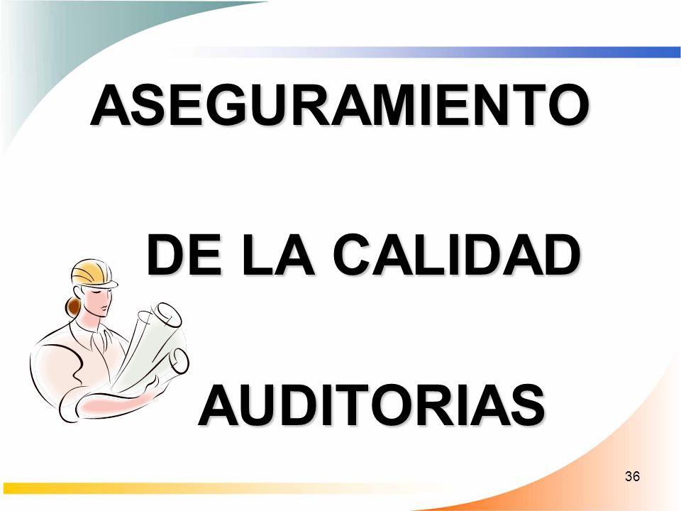 ASEGURAMIENTO DE LA CALIDAD AUDITORIAS