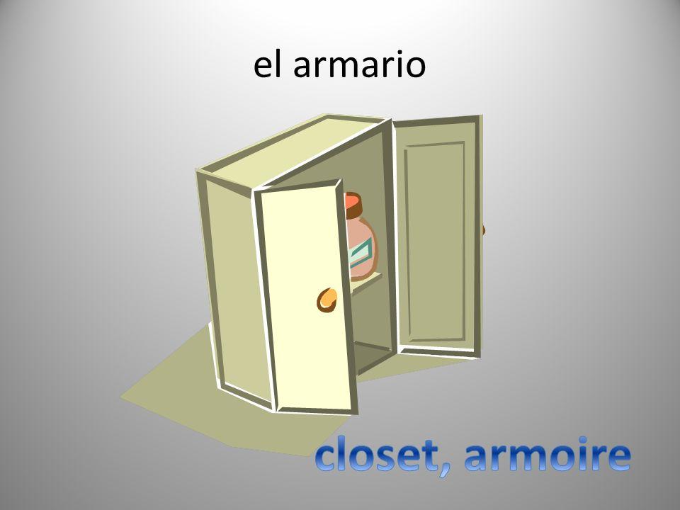 el armario closet, armoire