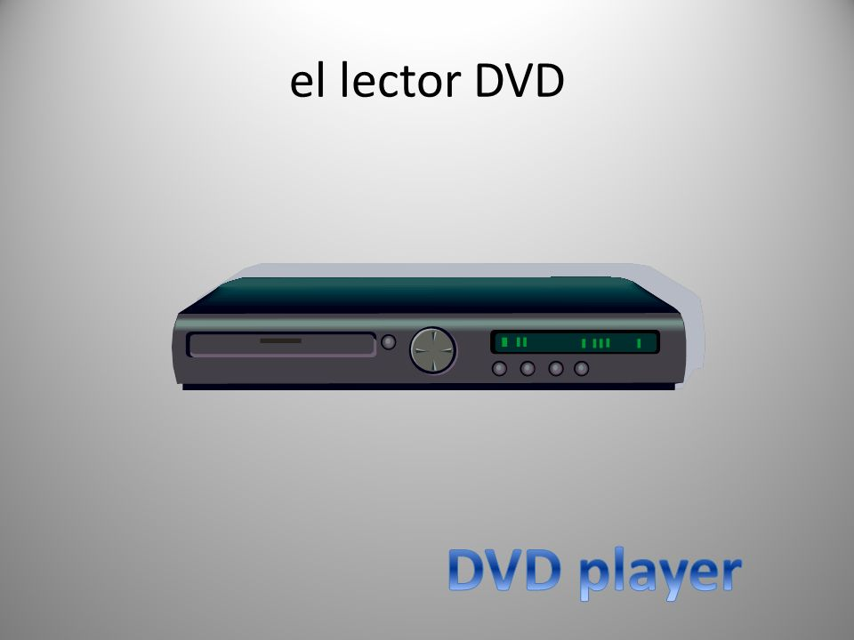 el lector DVD DVD player