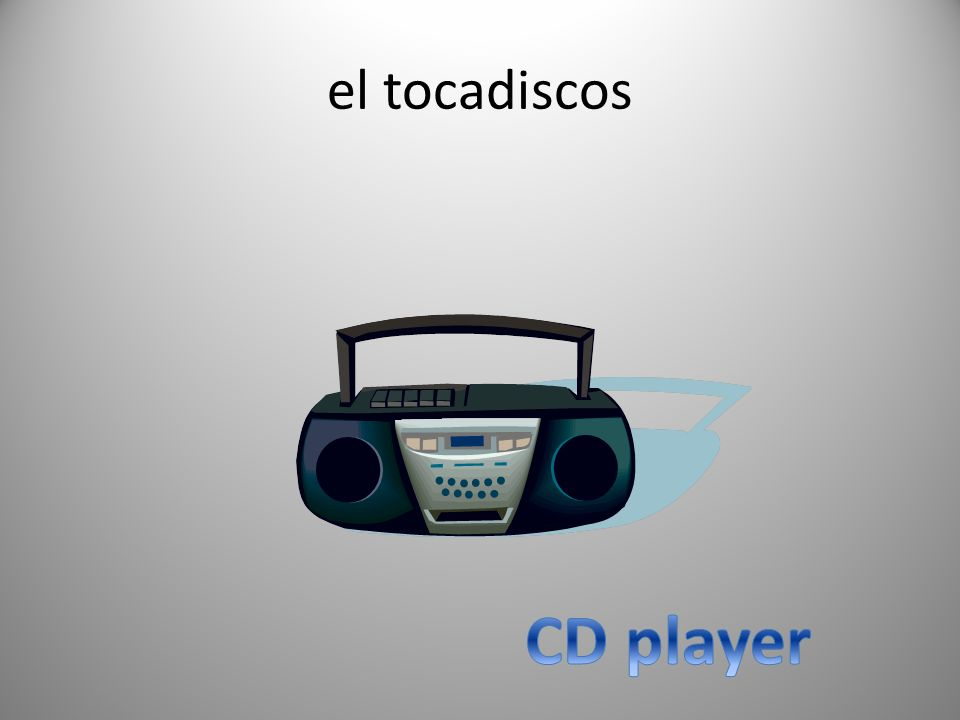 el tocadiscos CD player