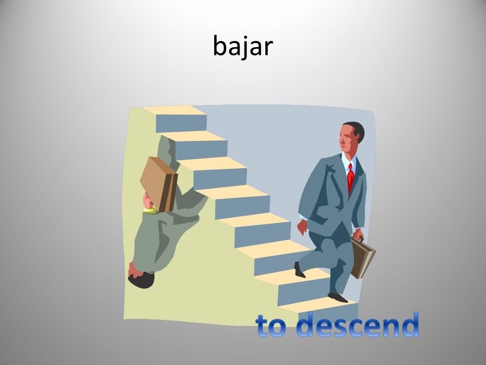 bajar to descend