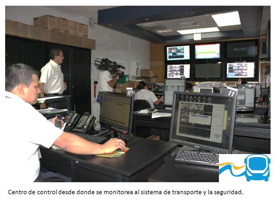 Centro de control desde donde se monitorea al sistema de transporte y la seguridad.