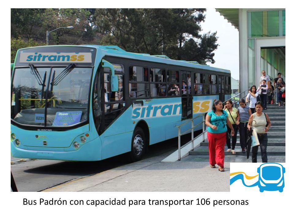 Bus Padrón con capacidad para transportar 106 personas