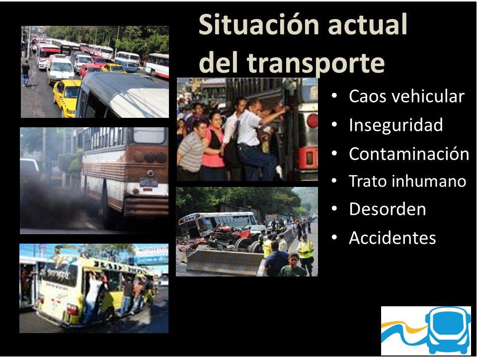 Situación actual del transporte Caos vehicular Inseguridad