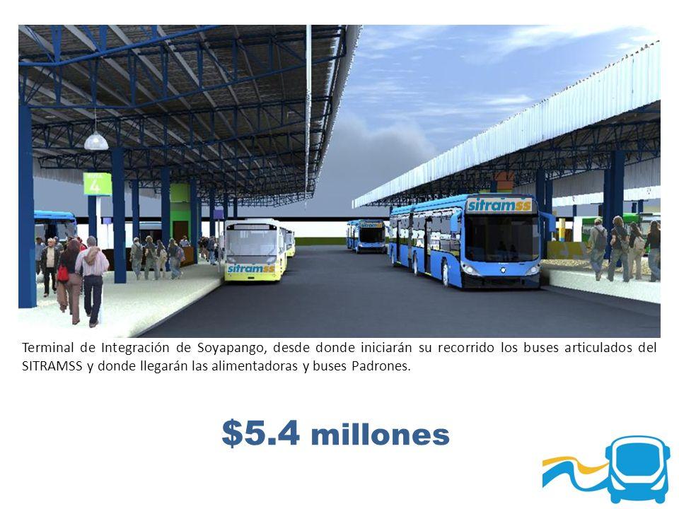 Terminal de Integración de Soyapango, desde donde iniciarán su recorrido los buses articulados del SITRAMSS y donde llegarán las alimentadoras y buses Padrones.