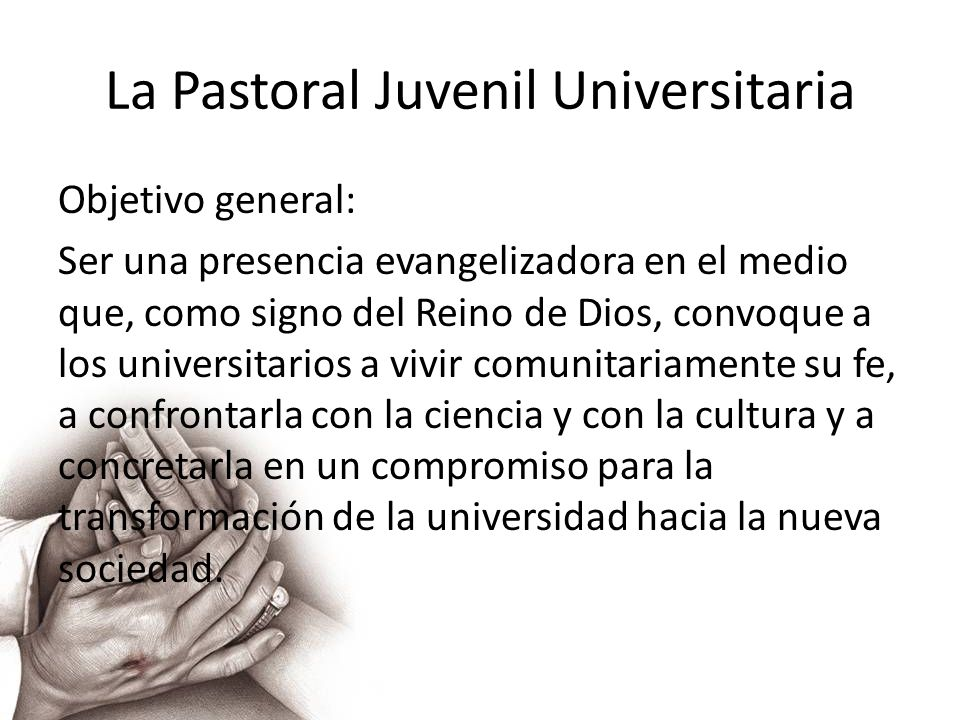 La Pastoral Juvenil Universitaria