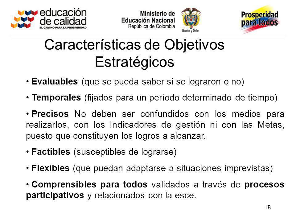 Características de Objetivos Estratégicos