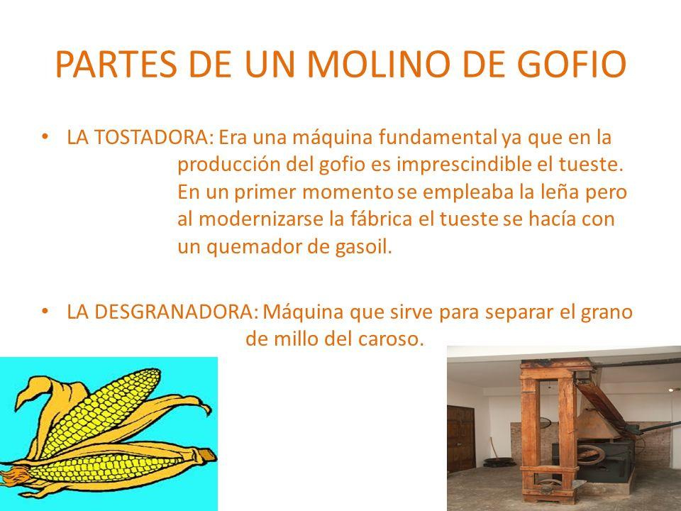 PARTES DE UN MOLINO DE GOFIO
