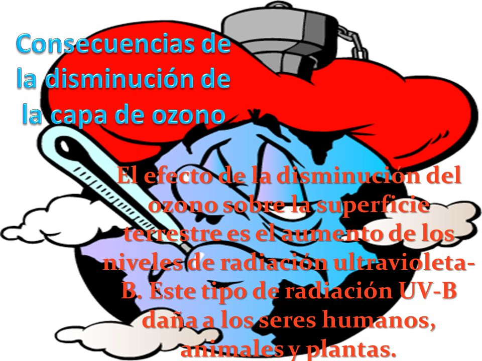 Consecuencias de la disminución de la capa de ozono