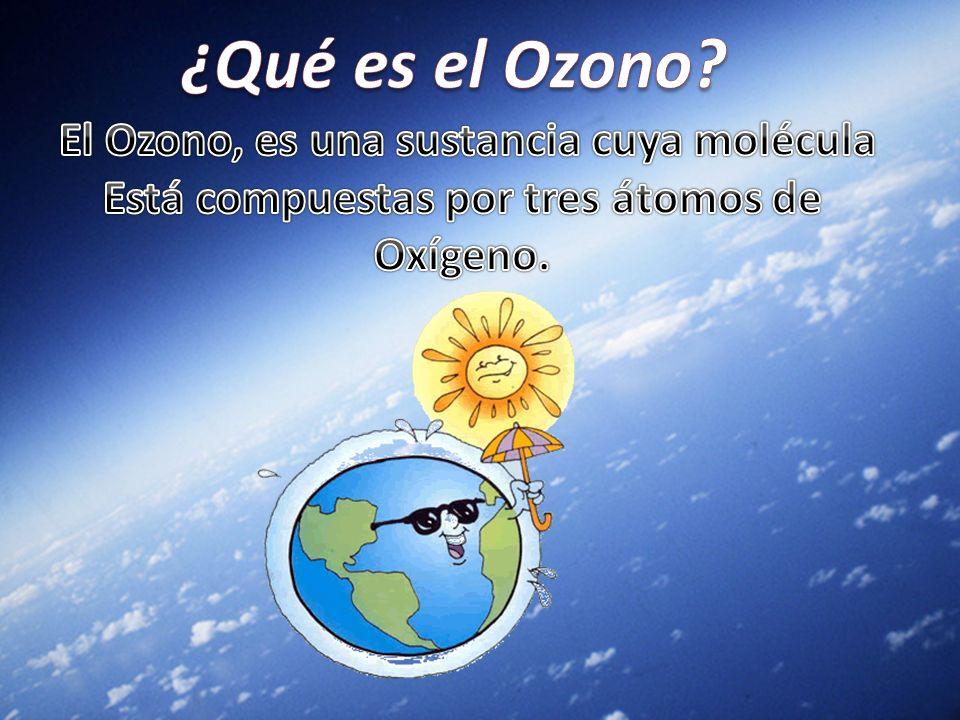 ¿Qué es el Ozono El Ozono, es una sustancia cuya molécula